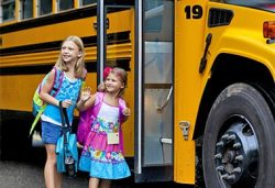 girls waiting for bus